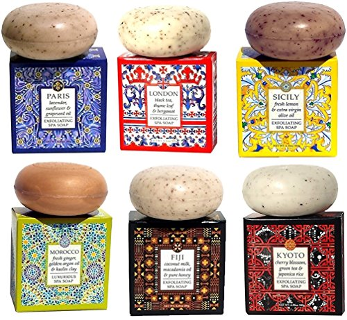 Greenwich Bay Trading Company Destination Spa Soaps 6 Piece Sampler -
