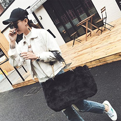 D Women Messenger Kolylong Shoulder Lady Satchel Synthesic Bag Tote fur B Handbag pIqAPqd