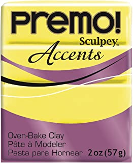 product image for Sculpey Premo Clay, Fluorescent Yellow