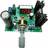 GEREE LED LM317 Step Down Power Supply Module Adjustable Voltage Regulator Input DC 0V-30V AC 0V-22V Output DC 1.25V-30V 2A