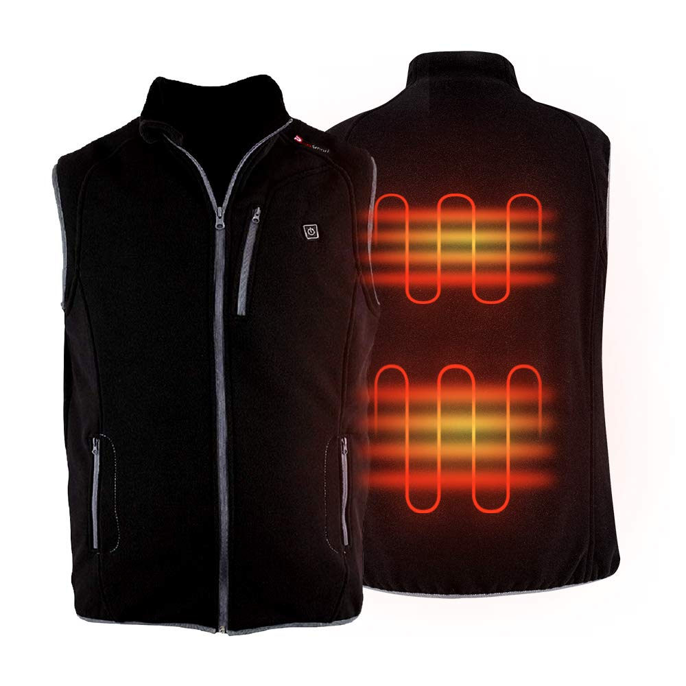 PROSmart Heated Vest Polar Fleece Lightweight Waistcoat with USB Battery Pack(M) by Prosmart