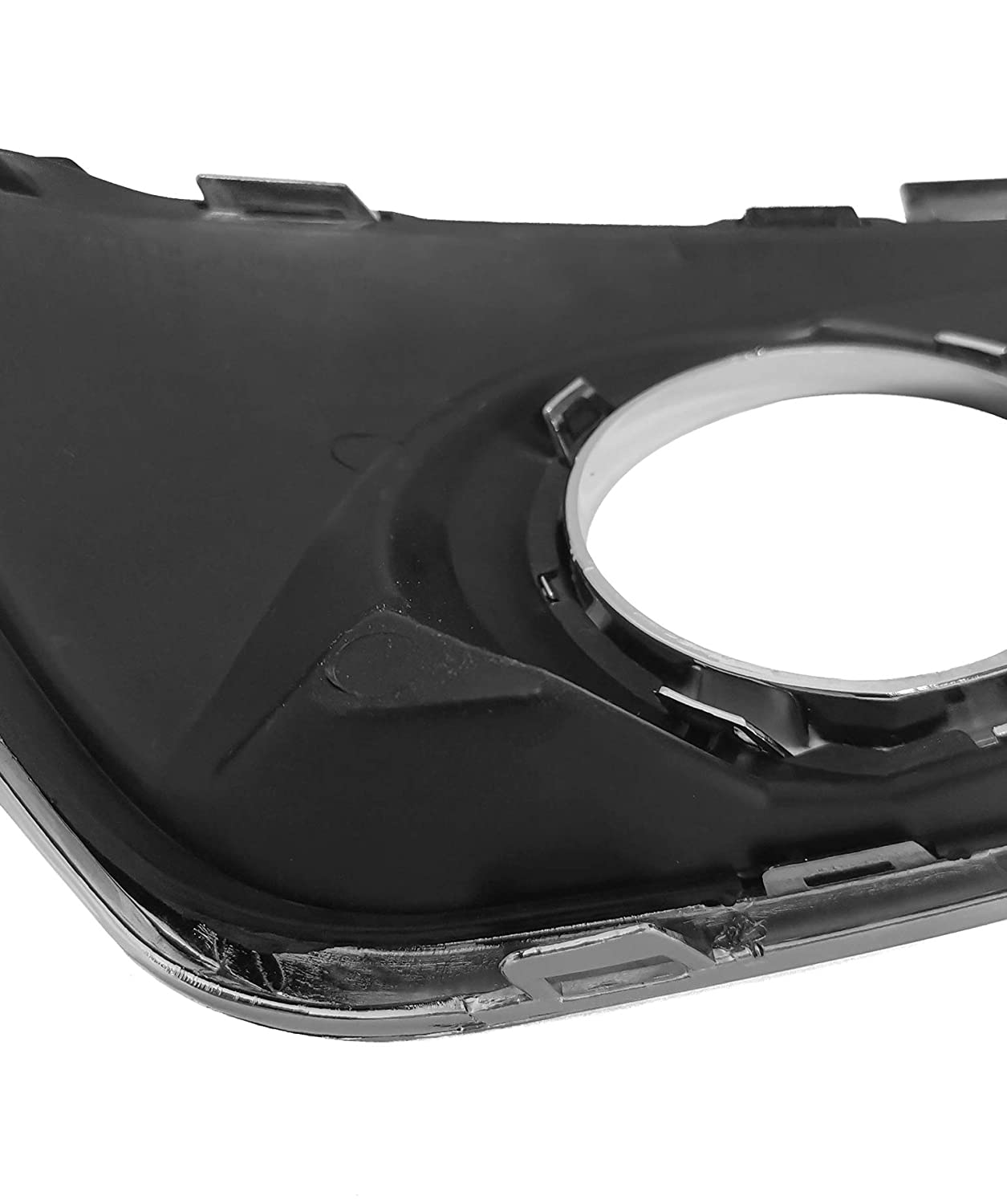 Landrol Driver Side Front Driving Bumper Black Fog Light Covers Exterior Replacement Trim Bezel w//Hole w//Out Fog Lamps Compatible fit for Chevrolet Malibu 2012-2015 with chrome strip
