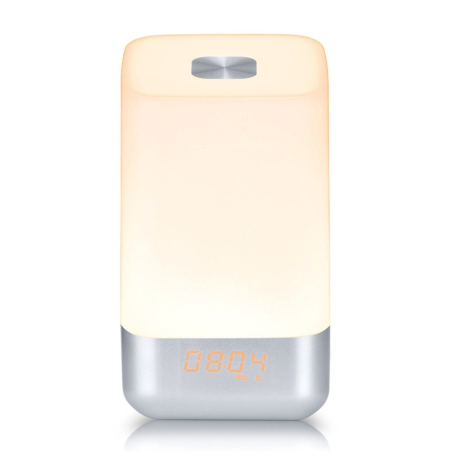 Light Therapy Lamps,Wake Up Light Alarm Clock with Sunrise Simulation and 5 Natural Sounds,LED USB Bedside Lamp,Rechargeable,Touch Sensor Night Light with 3 Brightness,12/24 hour,Veholion MY-3