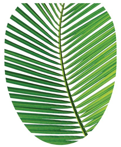 Toilet Tattoos TT-1500-O Palm Frond Design, Elongated by Toilet Tattoos