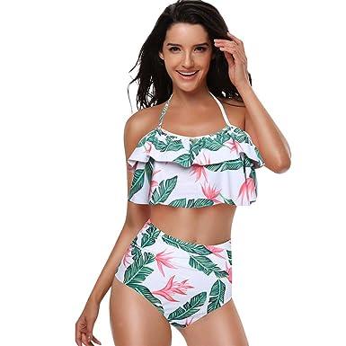 7a0b066a6f Amazon.com: Lurryly❤Family Matching Swimsuit Mom&Me Two Piece Summer  Ruffles Bathing Swimwear Fashion Bikini Set Outfits: Clothing