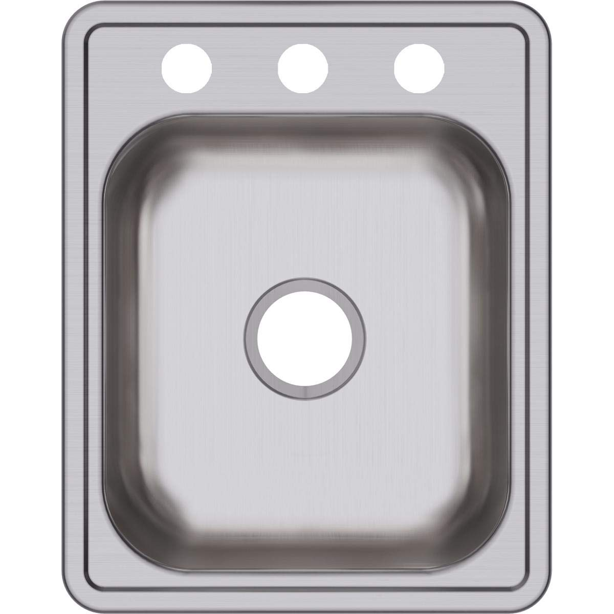 Dayton D117213 Single Bowl Top Mount Stainless Steel Bar Sink by Elkay