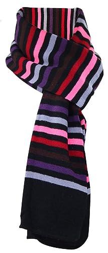 Nuevos hombres mujeres unisex de punto a rayas llano invierno bufanda ligero calentador de cuello