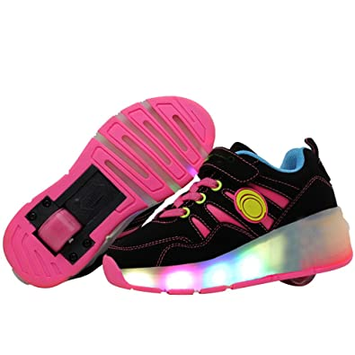 jlt Children Roller Sneaker with Wheel LED Lighted Flashing Roller Skates Kids Boy Girl Shoes Zapatillas
