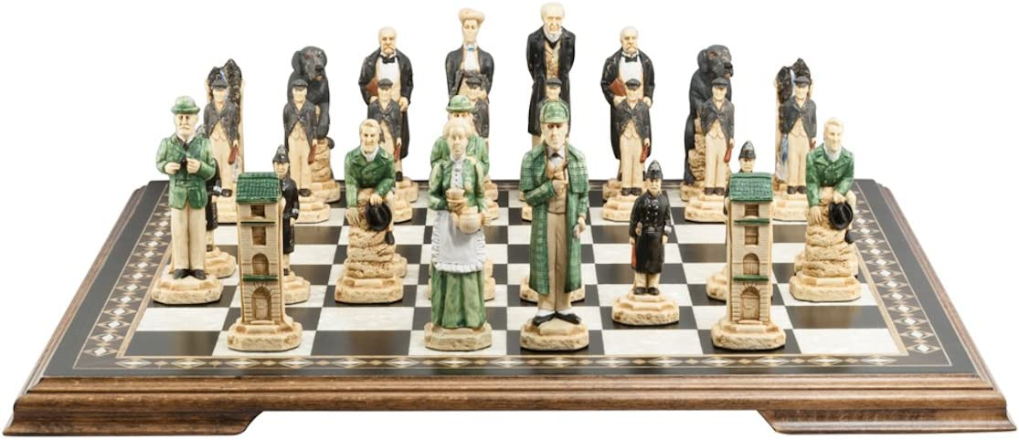 SAC Sherlock Holmes Chess Set, Hand-Painted (Without Board): Amazon.es: Juguetes y juegos