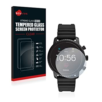 Savvies Verre Trempé pour Fossil Q Explorist HR (4.Gen) Film Protection Ecran