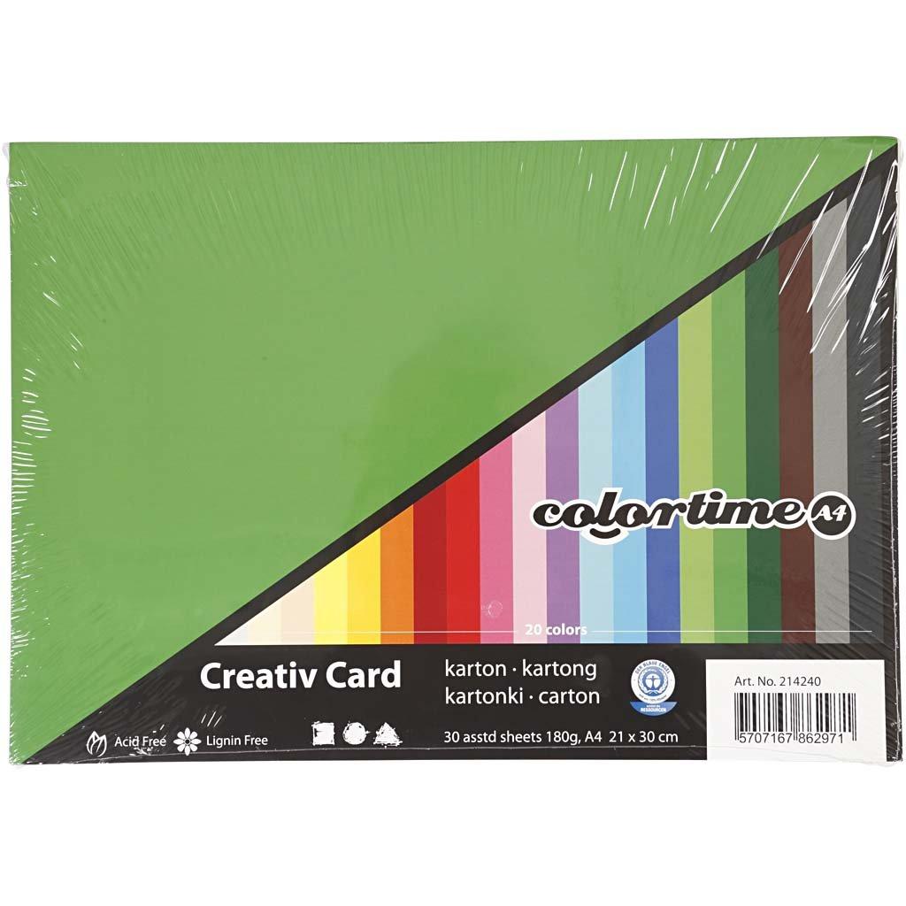 Creativ Colortime 120 pezzi di cartoncino Colori assortiti