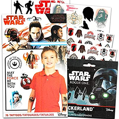 Star Wars Stickers and Tattoos Party Favor Pack (120 Stickers and 75 Temporary Tattoos): Kitchen & Dining