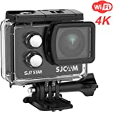 "SJCAM SJ7 Star Wifi Action Camera, 4K@30FPS Ambarella A12 Chipset/2"" TouchScreen/Sony Sensor/Wireless Remote Control supported/Gyro Stabilization,Waterproof Underwater Camera (Case Included)- Black"