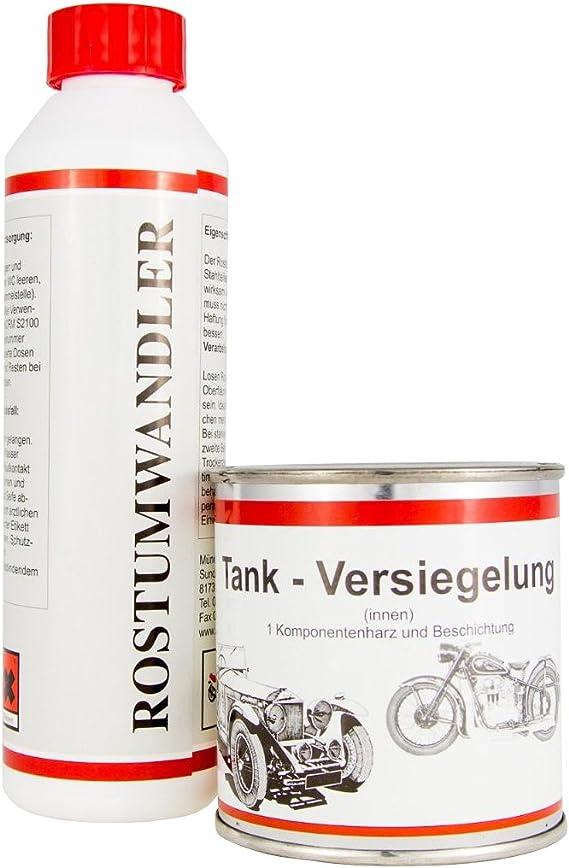 Original Mos Tankversiegelung Rostumwandler Im Set Bis 20 Liter Tankvolumen Auto