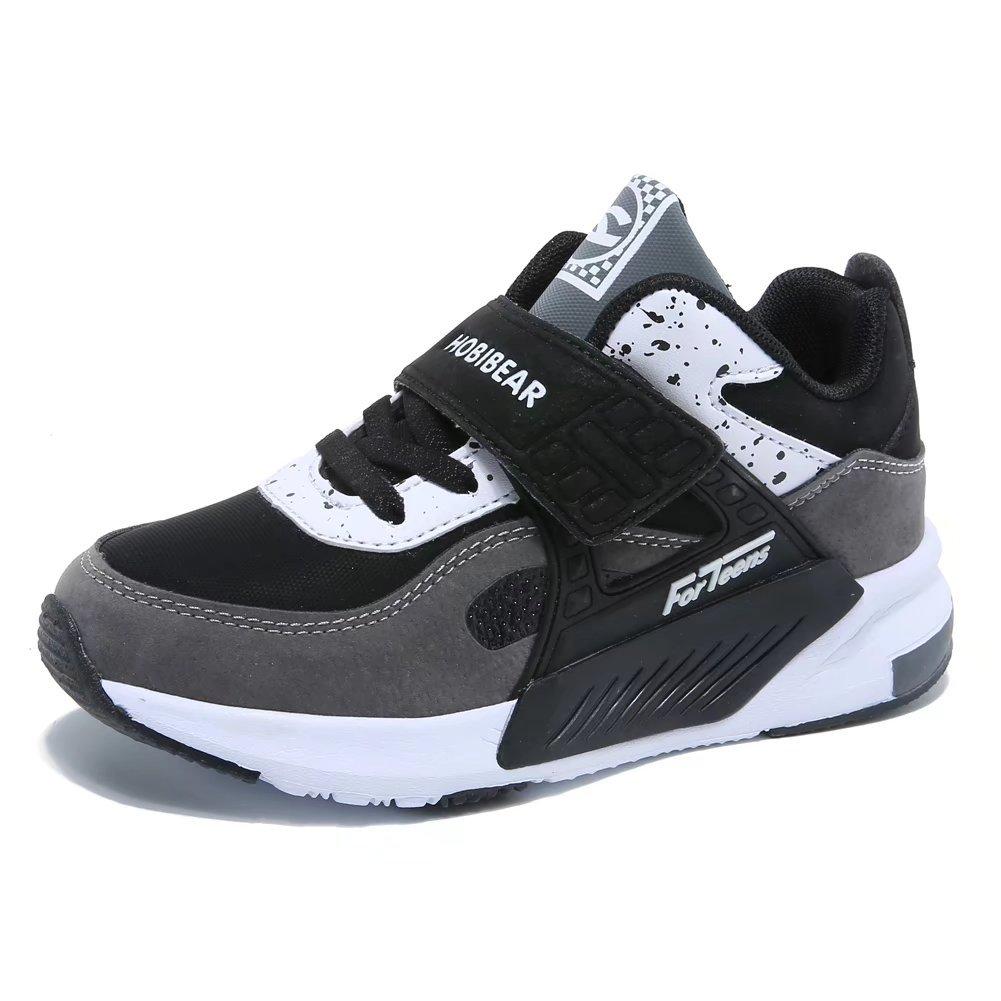 GUBARUN Running Shoes for Kids Outdoor Hiking Athletic Boys Sneakers-Grey/Black