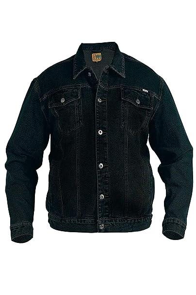 7b3ab6be25a Duke Rockford - Chaqueta para hombre, talla L, chaqueta vaquera clásica  negro XXXL