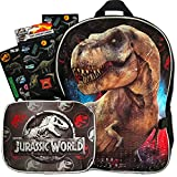 Jurassic World Backpack and Lunch Box Set for Boys Kids ~ Deluxe 16' Jurassic Park Backpack with Detachable Insulated Lunch Bag (Jurassic World School Supplies)