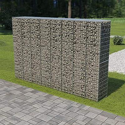 Muro de gaviones con Cubiertas Acero galvanizado 300x50x200 cmCasa ...