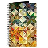 quilt diary - CafePress - Fun Patchwork Quilt Journal - Spiral Bound Journal Notebook, Personal Diary, Blank