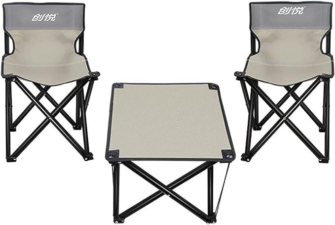 SONGSH Mesa Plegable Mesas y sillas Plegables Silla portátil ...