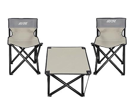 SONGSH Mesa Plegable Mesas y sillas Plegables Silla portátil al ...