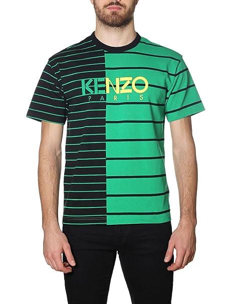 Kenzo - Camiseta - para Hombre Negro/Verde Talla De La Marca Small: Amazon.es: Ropa y accesorios