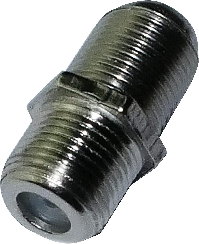 AERZETIX: 10 x Conectores F Hembra y Hembra para Cable coaxial de Antena TV C3372