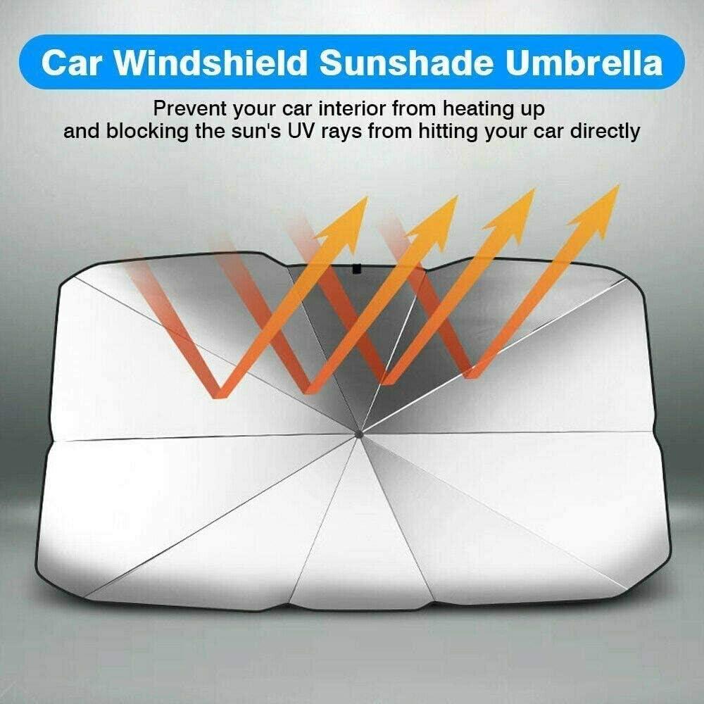 S Universal Car Front Window Cover Sunscreen Heat Insulation Umbrella UPF50 NEW ADAPT Foldable Car Windshield Sun-Shade Umbrella Visor