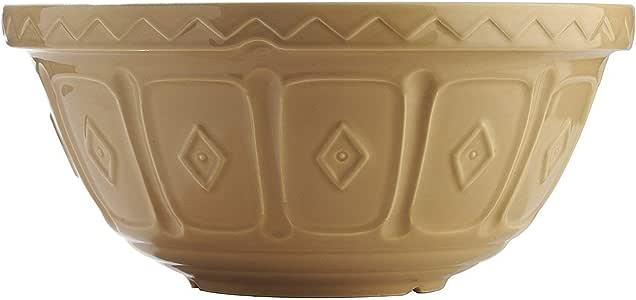Mason Cash Cane Mixing Bowl, 32cm, White/Brown 28317