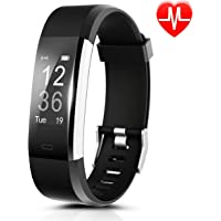 "Fitness Tracker Heart Rate[USB Direct Charge],CAMTOA ID115Plus Bluetooth4.0 Exercise Tracker/Smart Fitness Wristband/Smart Watch/Heart Rate Monitor/Smart Fitness Bracelets Activity/Pedometer Wristband Sleep Tracker-Sports Modes,Calorie Step Tracking,Call Notification(Facebook,WhatsAPP,Skype,Messenger,Twitter),Sedentary Reminder,Music Control,Remote Control Phone Camera,IP67Waterproof,0.96""OLED for Android & iOS Smartphones iPhone 7 7 Plus 6 Samsung S8"