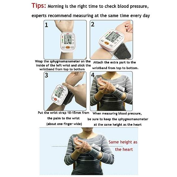 Tensiómetro de muñeca,Tensiómetro Digital De Muñeca Totalmente Automático Presión Arterial Y Detección De Pulso Arrítmico Memoria (2 * 99): Amazon.es: Hogar