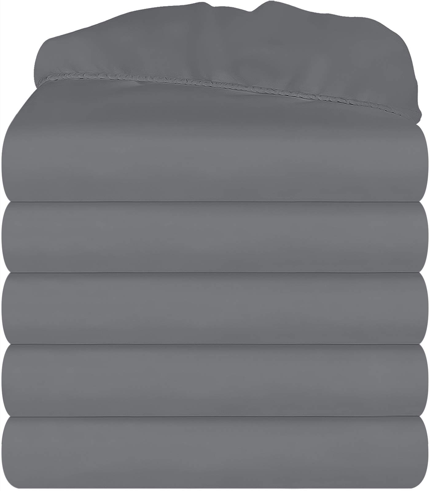 Utopia Bedding King Fitted Sheets (Pack of 6, Grey)
