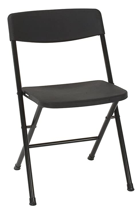 4 Pack Folding Chairs.Cosco Resin 4 Pack Folding Chair With Molded Seat And Back Black Renewed