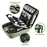 Updated Electronics Organizer 2 Layers Travel Cord