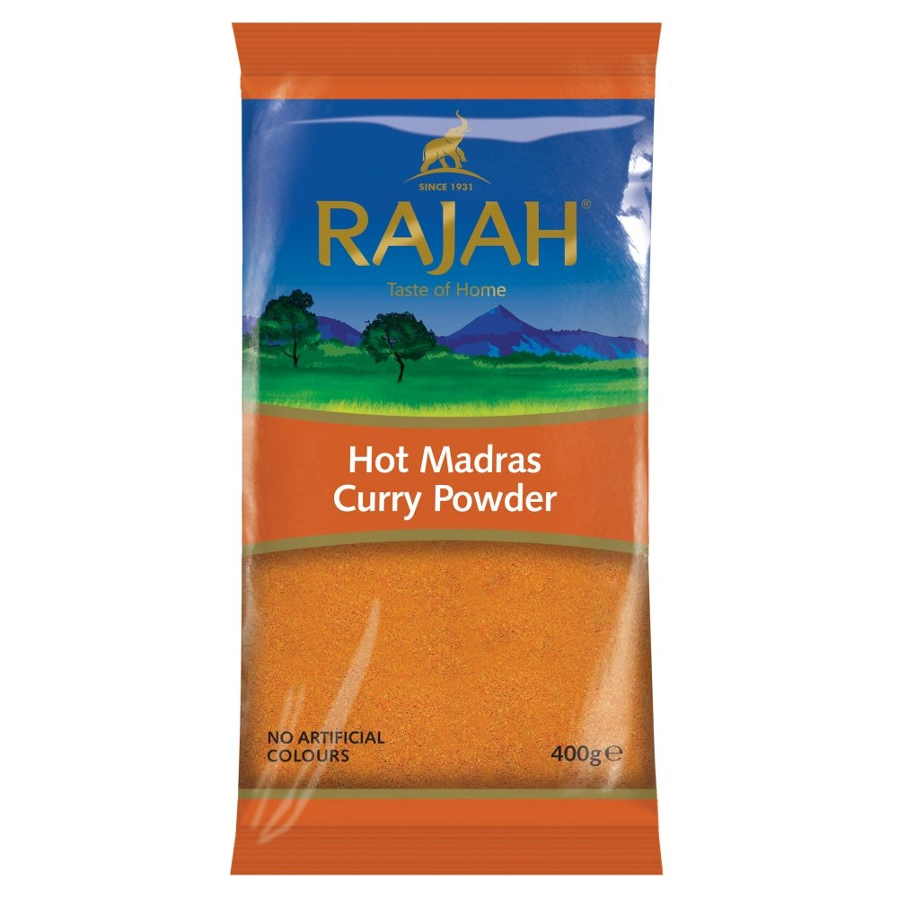 Rask Rajah Hot Madras Curry Powder, 400 g: Amazon.co.uk: Grocery QE-36