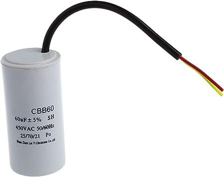 Kondensator st/ändigen Arbeitsprogramm f/ür Motor 32/µF 450V mit 6,3 mm Anschl/üssen Aerzetix