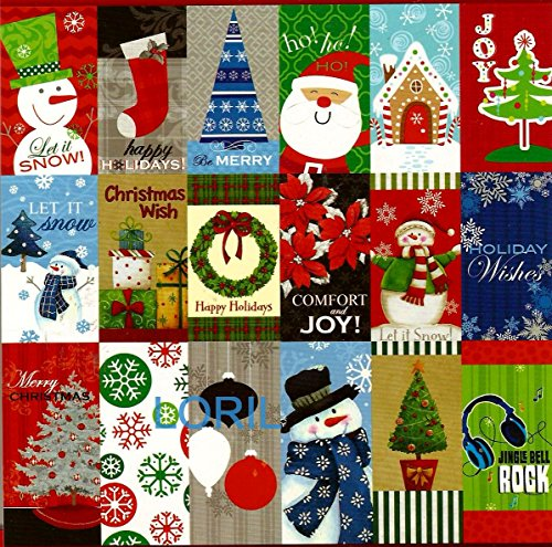 CHRISTMAS GLITTERED GIFT TAGS ( 60 GIFT TAGS - 1 BOOKLET )