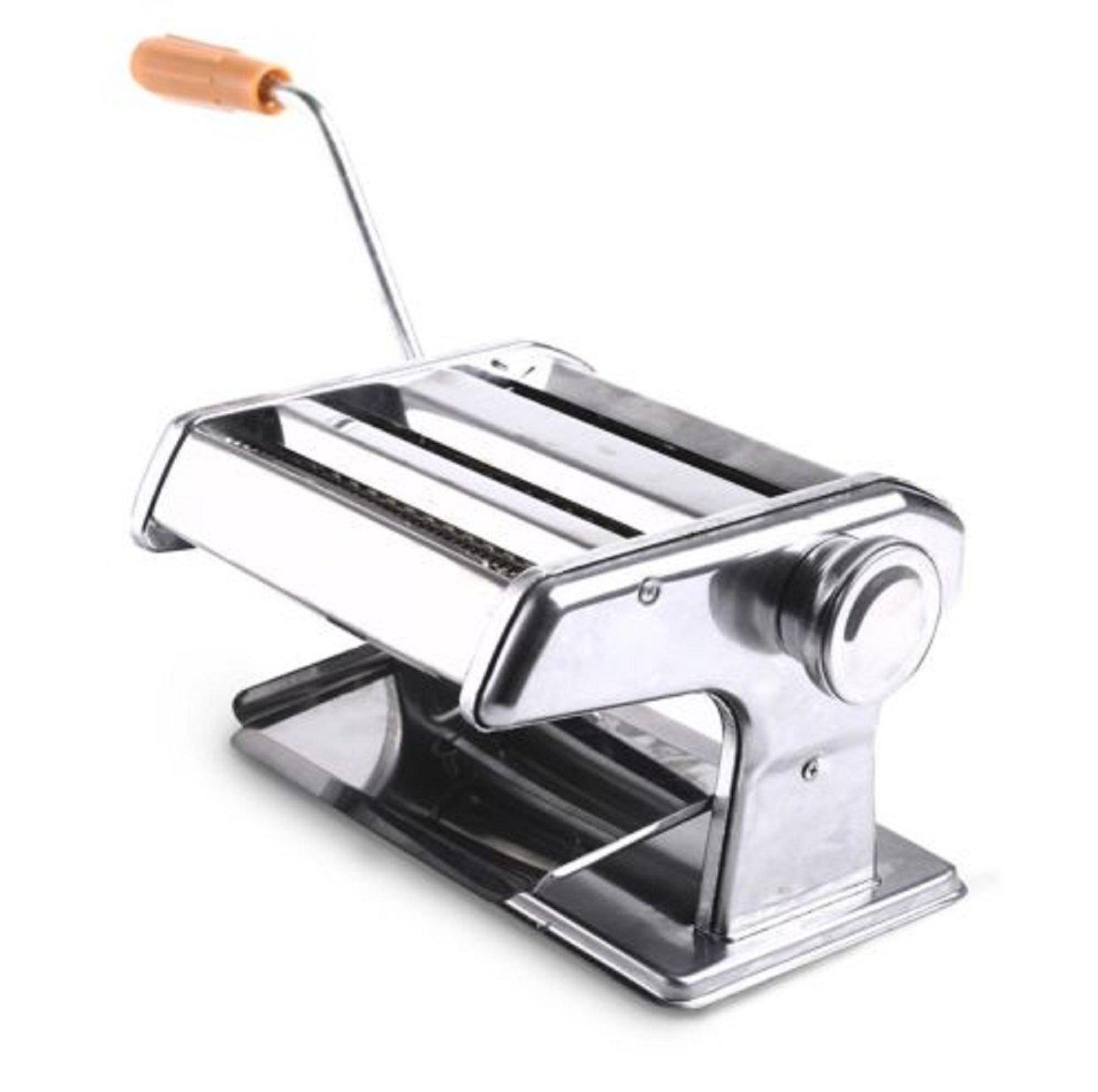 "Portable Pasta Maker Roller 150mm 6"" Health Machine 50mm & Noodle Spaghetti and Fettuccine"