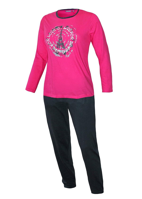 check out 6fe68 64bb1 neu Moonline nightwear Pyjama Damen lang Damen Schlafanzug ...