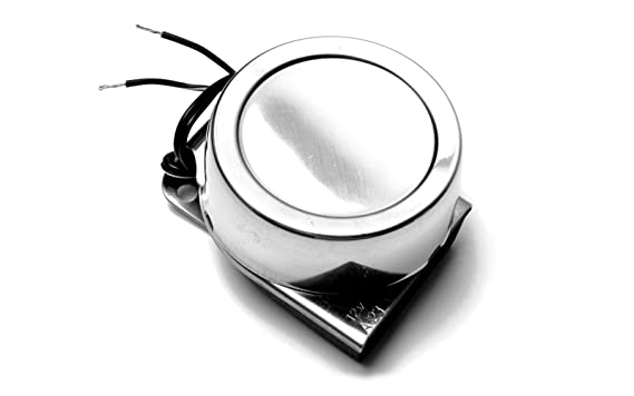 Elektrisches Signalhorn -110Db schwarz weiß Bootshupe Bootshorn Hupe Horn Boot