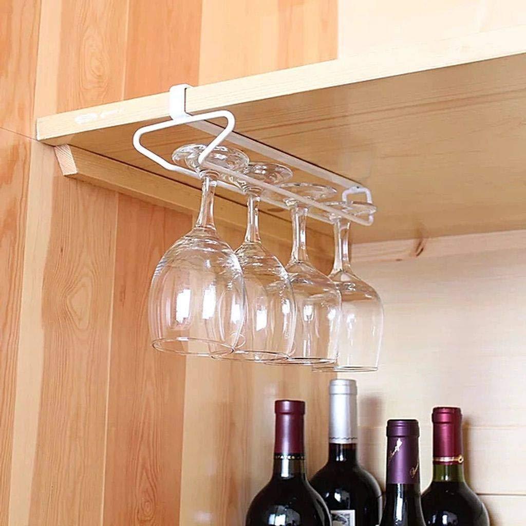 Bove 304Acciaio Inossidabile Scaffale Porta Bicchiere di Vino Porta Bicchiere da Vino rovesciato Decorazione pensile per Il Vino Calice drenante Realizzato in Metallo di Alta qualit/à-la