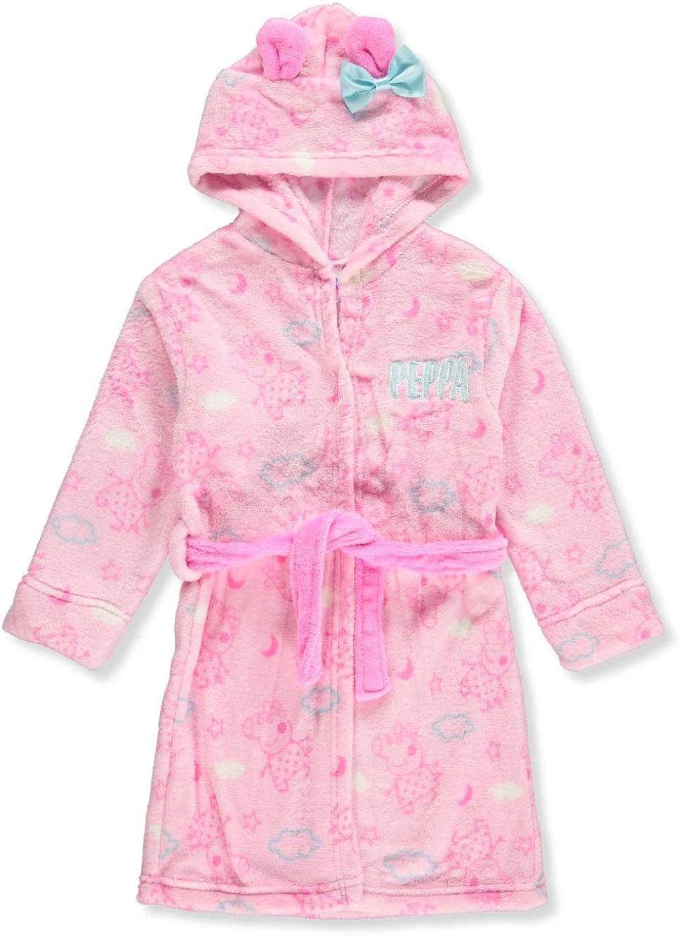 Size 4T Toddler Girls Bath Robe Peppa Pig Pink Soft Plush Little Girls Robe 4T Pink
