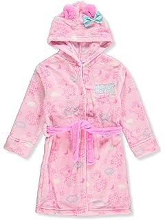 Cartoon Peppa Pig Pink Fleece Bathrobe for Toddler Girls Hood with Ears Nick Jr