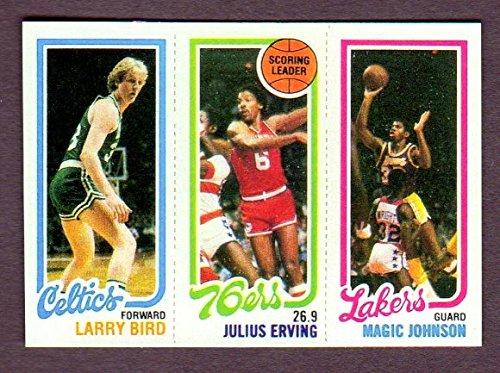 Larry Bird, Magic Johnson 1980 Basketball Rookie Reprint (Celtics) (1980 Larry Bird)
