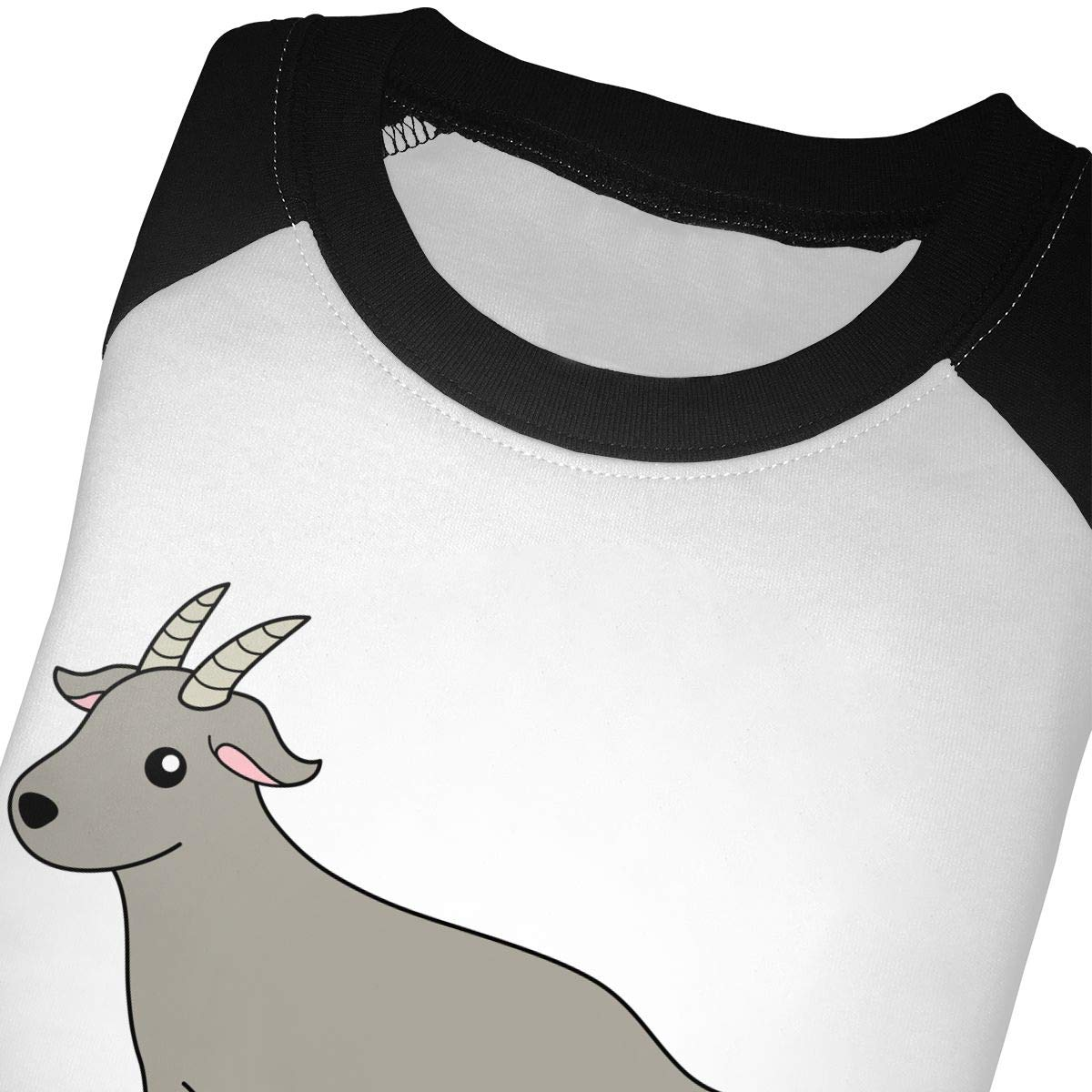 yimo Pockets Gray Goat Unisex Toddler Baseball Jersey Contrast 3//4 Sleeves Tee