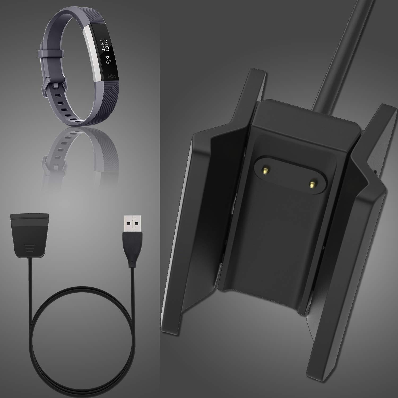 Kingacc Cargador para Fitbit Alta HR, Cable de Cargador Compatible con Fitbit Alta HR Smartwatch(1-Pack)
