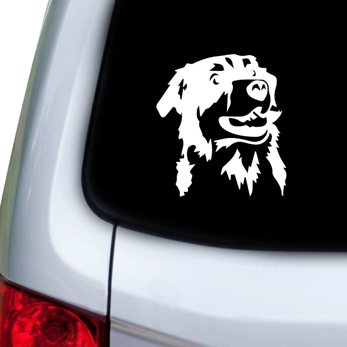 StickAny Car and Auto Decal Series Australian shepherd 3 Sticker for Windows Hoods Doors Red