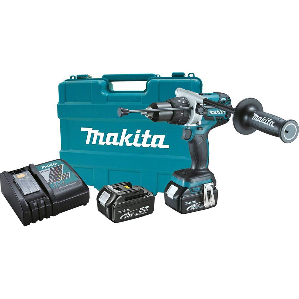 Makita XPH07M-R 18V LXT 4.0 Ah Cordless Lithium-Ion Brushless 1 2 in. Hammer Driver Drill Kit Renewed