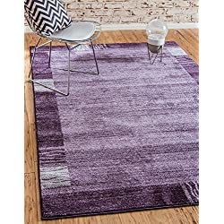 Unique Loom Del Mar Collection Contemporary Transitional Purple Area Rug (5' x 8')