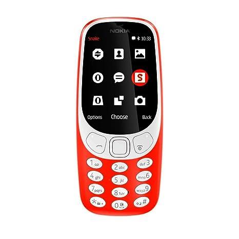 Nokia 3310 3G Telefono Cellulare 64MB, Kamera 2MP Flash LED Warm rot